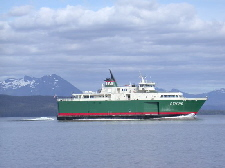 Alaska's Inter-Island Ferry Stikine,  returning to Coffman Cove from Wrangell.